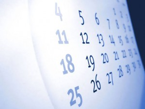 Agenda e calendário em papel