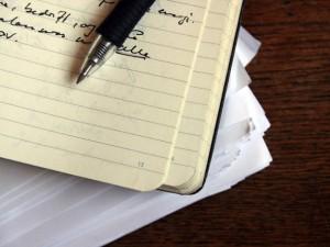 Lista de compras em papel