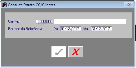 A Receber - Consultas - Extrato de Conta Corrente do Cliente